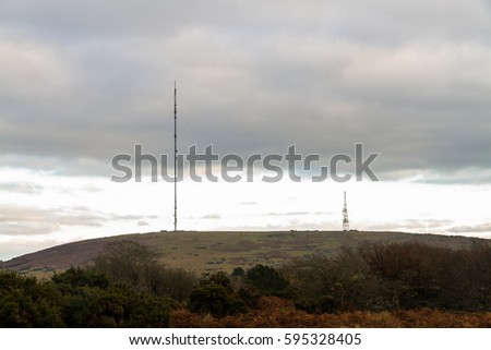 Caradon Hill from Minions seen from Minions with TV Transmission mast.