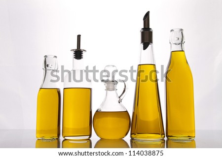 carafe of olive oil - stock photo
