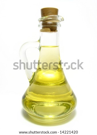 Carafe with oil - stock photo