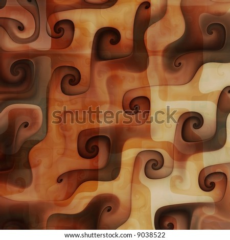 Caramel chocolate swirls - stock photo