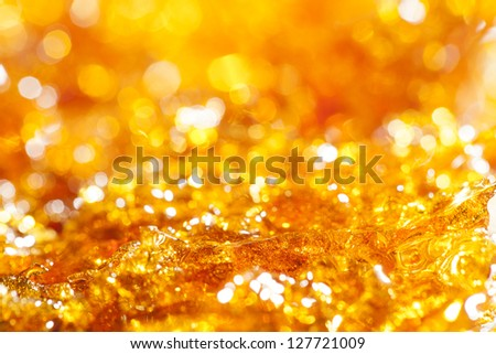caramel gold glitter background - stock photo