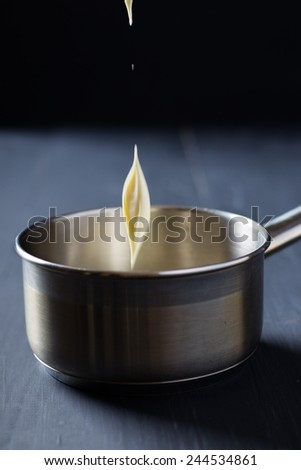 Caramel in the making - stock photo
