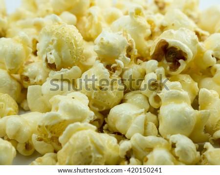 Caramel Popcorn close up - stock photo