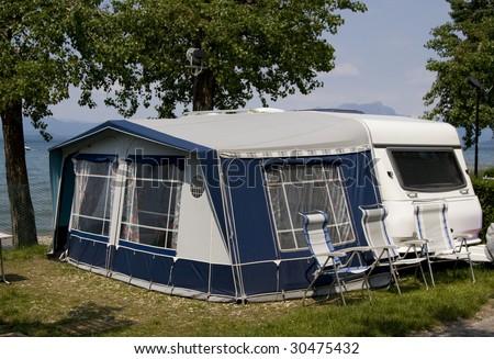 caravan - stock photo