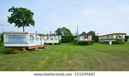 caravan house - stock photo
