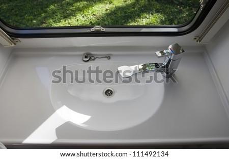Bathroom Sinks For Mobile Homes caravan interior travel trailer mobile home stock photo 111492134