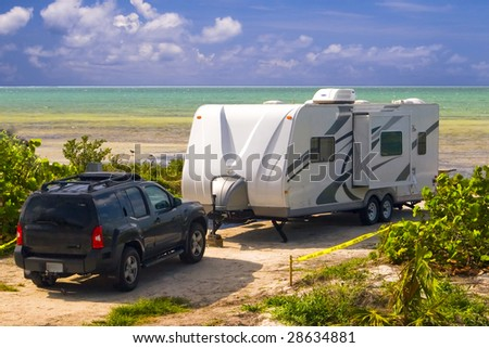 caravaning - stock photo