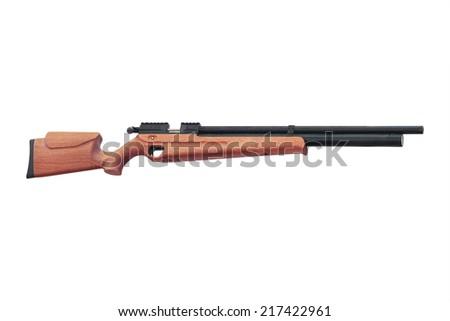 carbine under the white background - stock photo