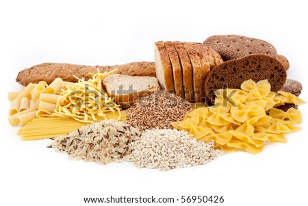 carbohydrate food isolated - stock photo