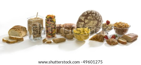 Carbohydrates rich food - stock photo