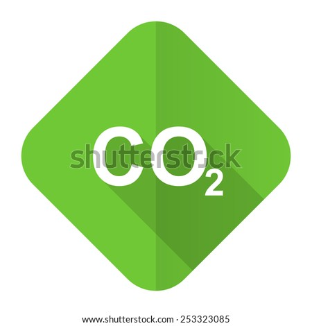 carbon dioxide flat icon co2 sign  - stock photo