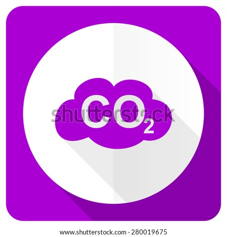 carbon dioxide pink flat icon co2 sign  - stock photo