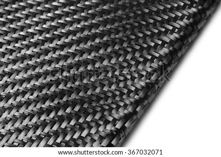 Carbon Fiber Cloth Fabric. Macro.