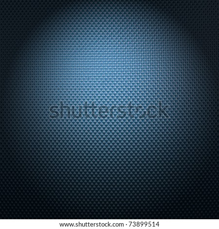 carbon fiber texture with radial lighting - stock photo