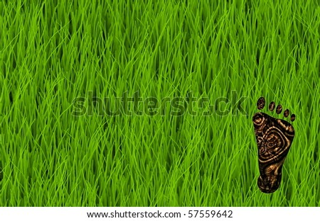 Carbon Footprint Reduction as a Concept Art - stock photo