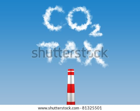Carbon Tax, Tax on carbon emission - stock photo