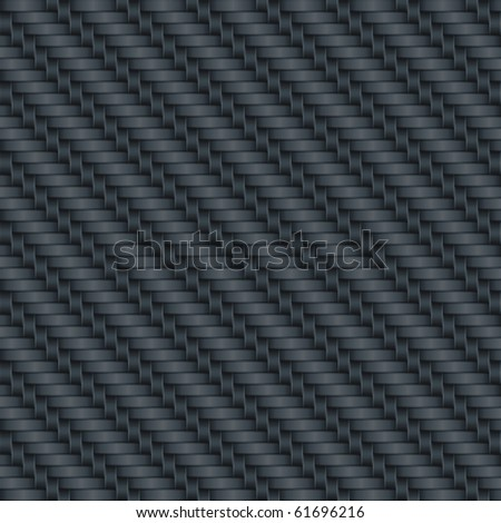 Carbon wicker background (seamless pattern) - stock photo