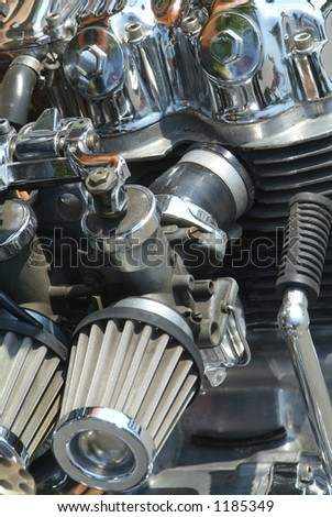 Carburettor of four cylinder motorcycle engine