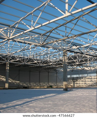 Carcass hangar under construction