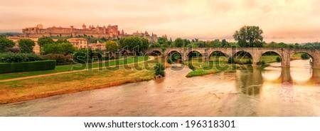 Carcassonne, France - stock photo