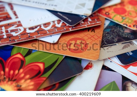 card at a discount of 15% is a lot of discount cards - stock photo