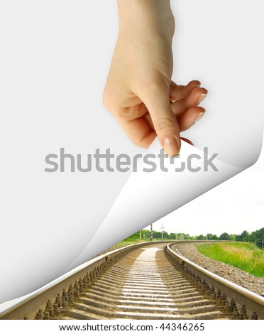 card blank in a hand - stock photo