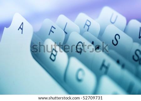 card file - stock photo