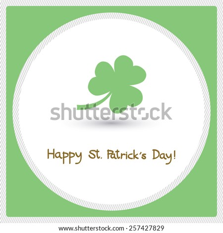 Card for happy Saint Patrick s Day. - stock photo