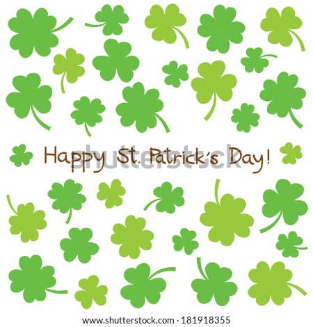 Card for Saint Patrick s Day. - stock photo