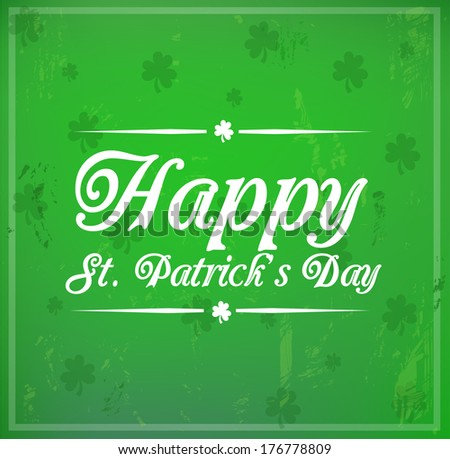 """Card for St. Patrick's Day """"Happy St. Patrick's Day"""" - stock photo"""