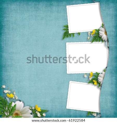 Card for the holiday  with flowers on the abstract background - stock photo