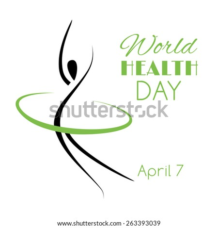 Card for the World Health Day. Raster version - stock photo