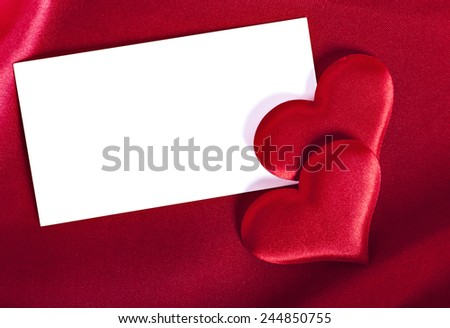 card for Valentine's Day with a blank space for your text - stock photo
