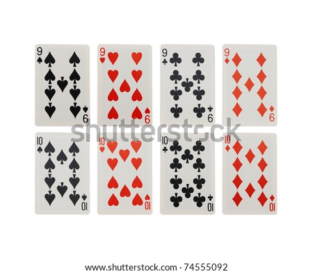 card game isolated on white background - stock photo