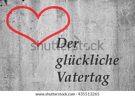 "card greeting on the occasion of Father's Day in the German language ""Happy Father's Day"" - stock photo"