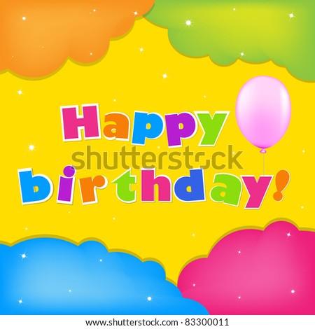 Card Happy Birthday - stock photo