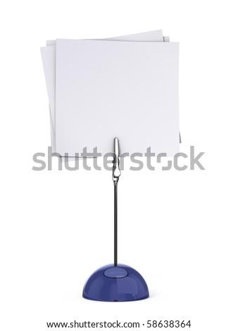 Card holder isolated on white - stock photo