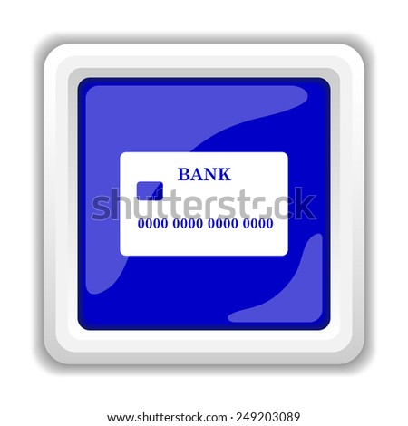 Card icon. Internet button on white background.