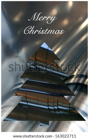 card merry christmas - stock photo