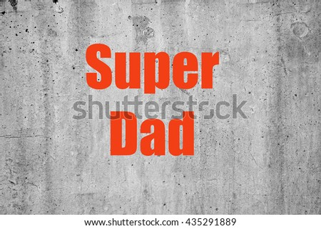 card on the occasion of Father's Day - stock photo