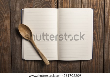Card. Recipe book - stock photo