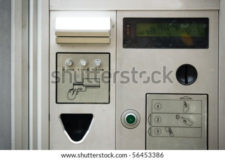 card slot payment , machine facility background