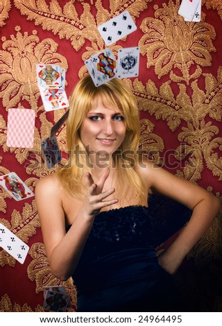 card-table queen - stock photo