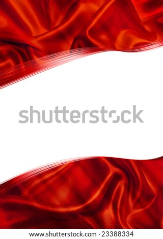 Card with a red framework and a white background - stock photo