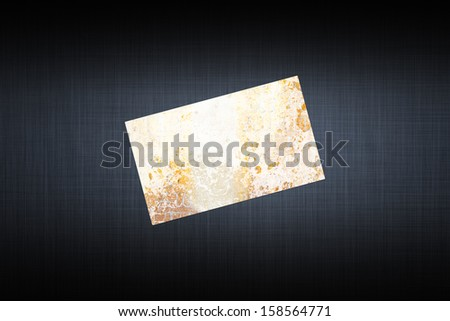 card with abstract texture on the gray background