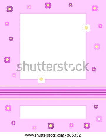 Card with blank space for picture and words - stock photo