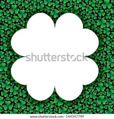Card with clover - stock photo