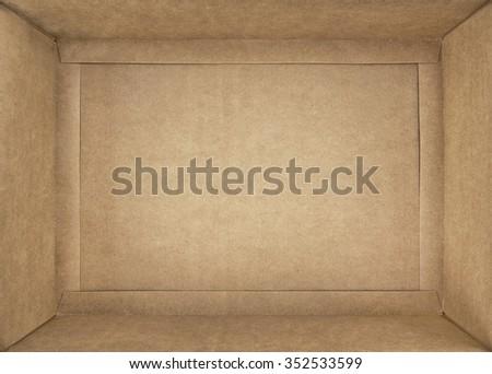 cardboard box; closeup - stock photo