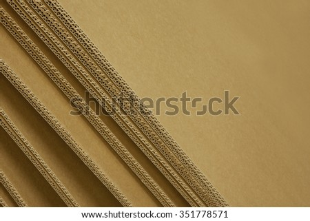 cardboard box - detail - stock photo