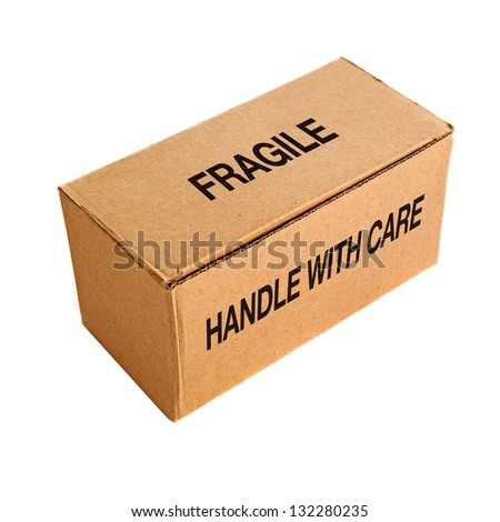 Cardboard box for packaging on a white background.